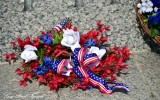 Wreath and Flower, World War 2 Memorial, Washington DC
