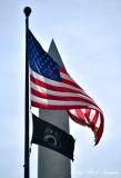 US Flag and Washington Monument, Washington DC