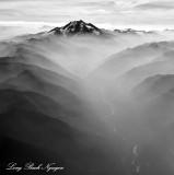 Glacier Peak and White Chuck River Cascade Mountains Washington