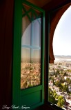 Green Window Alhambra Palace Hotel Granada Spain