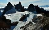 Receeding Glacier on Overcoat Peak and Chimney Rock Mount Rainier Washington