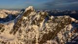 Chimney Rock and Glacier, Mt Stuart, Cascade Mountain, WA, PNW