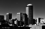 Seattle Skyline and Moon, Washington 005