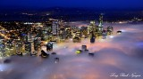Downtown Seattle covered in Fog Washington 464