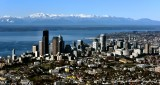 Downtown Seattle and Olympic Mountains, Puget Sound, Washington 1016