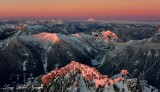 Golden Hour  on Cascade Mountains and Glacier Peak, Washington 1365