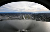 Renton Airport and Lake Washington from T-34B  Washington 094