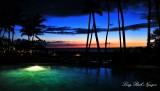 Sunset on Big Island Hale Kai Restaurant Fairmont Orchid Hawaii 382