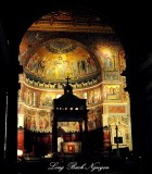 Apse and Altar  in Basilica of Our Ladys in Trastevere, Rome Italy 561