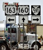 US Route Signs Kayenta Arizona 410