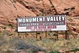 Monument Valley Tribal Park sign Kayenta Arizona 423
