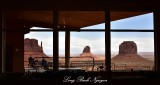 The View of Monument Valley from Hotel Dining Area  Arizona 635