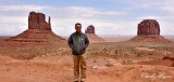 Me  in front The Mitten Butte and Merrick Butte Monument Valley 649