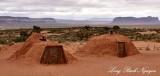 Hogans at Monument Valley Visitor Center Navajo Tribal Park Arizona 994