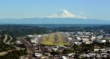 Boeing Field King County International Airport KBFI and Mount Rainier Seattle 436