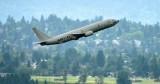 USNAVY P-8 Poseidon Boeing 737 departing Boeing Field 075