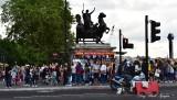 Full of Tourists on Westminster Bridge London 167