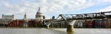 Millennium Bridge St Paul's Cathedral  Thames River London 050