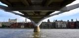 Under Millennium Bridge Northbank Thames River London 056
