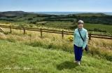 Katherine at Tyneham view point 073