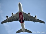 Emirates A380 over Kew Garden Outside London 467