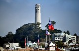 Coit Tower from Chinatown San Francisco 072