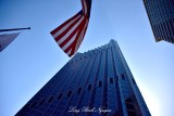 US Flag and Building San Francisco 233