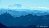 Blue Sky over Cascade Mountains and Mt Rainier 522