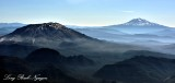 Mt St Helens and Mt Adams Cascade Mountains Washington 105