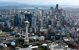 Space Needle, Downtown Seattle, Monorails, Pacific Science Center, Construction Cranes 065