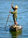 Fisherman on Thu Bon River Hoi An Vietnam 1007