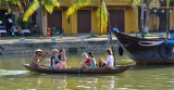 Small boat with tourists Hoi An Vietnam 1119