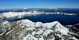 Crater Lake and Wizard Island, Mt Bailey, Mt Thielsen, Three Sisters, Diamond Peak, Oregon Cascade Mountains 569