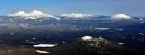 Cultus Mountain, Mt Bachelor, Broken Top, South Sister and North Sister, Oregon Cascade Mountain Range 638