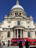 St. Paul's with a couple of classic London buses in front