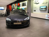 Tesla showroom at Westfield Mall