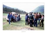 Abril 1981 · Vall del Roncal, Navarra. Després d'aixecar el campament un moment de descans