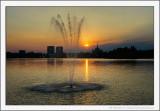 Sunset at Lake Herăstrău