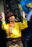 Kunming,Yunnan-Green lake. Street dancer.