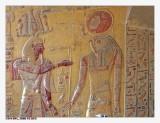 Merenptah stands before Re-Harakhty (KV 8)