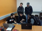 Idaho State University students in my Microcontroller projects course.