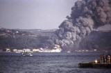 Fire on the Asian side of the Bosporus 1975