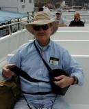 Ron on whale watch trip