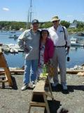 Ron, Marcelle and Rick in Rockport