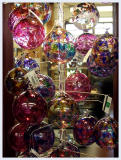 Glass Ornaments in the gift shop