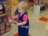 Kaelyn in toyshop