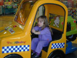 Taya goes fora ride in a taxi