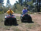 Sue & Frank get readyto go 4-Wheelin'