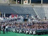 Cadets receiving diplomas