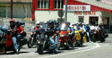 The group ready to continue on Hwy 138.